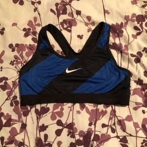 Striped Nike sports bra